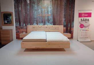 Bed FLABO ZIRBE, without metal
