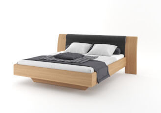 Bed FLABO upholstered headboard without nightstands